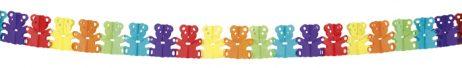 Guirlande papier 4 metres oursons multicolores