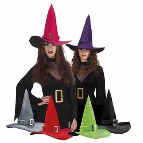 Chapeau de sorciere avec boucle 6 coloris