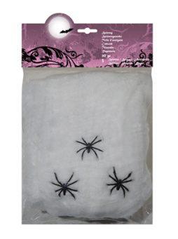 Toile d'araignee 20 gr + 3 araignees
