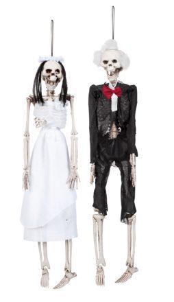 Jeunes mariés squelettes