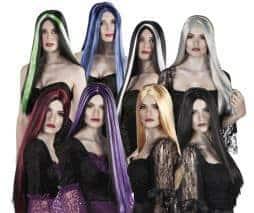 Lot de 16 perruques gothiques