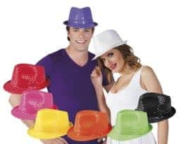 Chapeau pop neon plusieurs couleurs