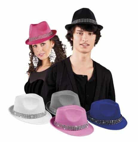 CHAPEAU DE POP STAR (Strass - 5 coloris)