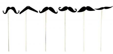 Set de moustaches en carton