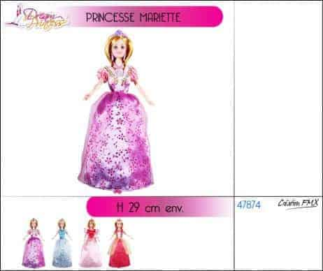 Princesse mariette poupee 29 cm