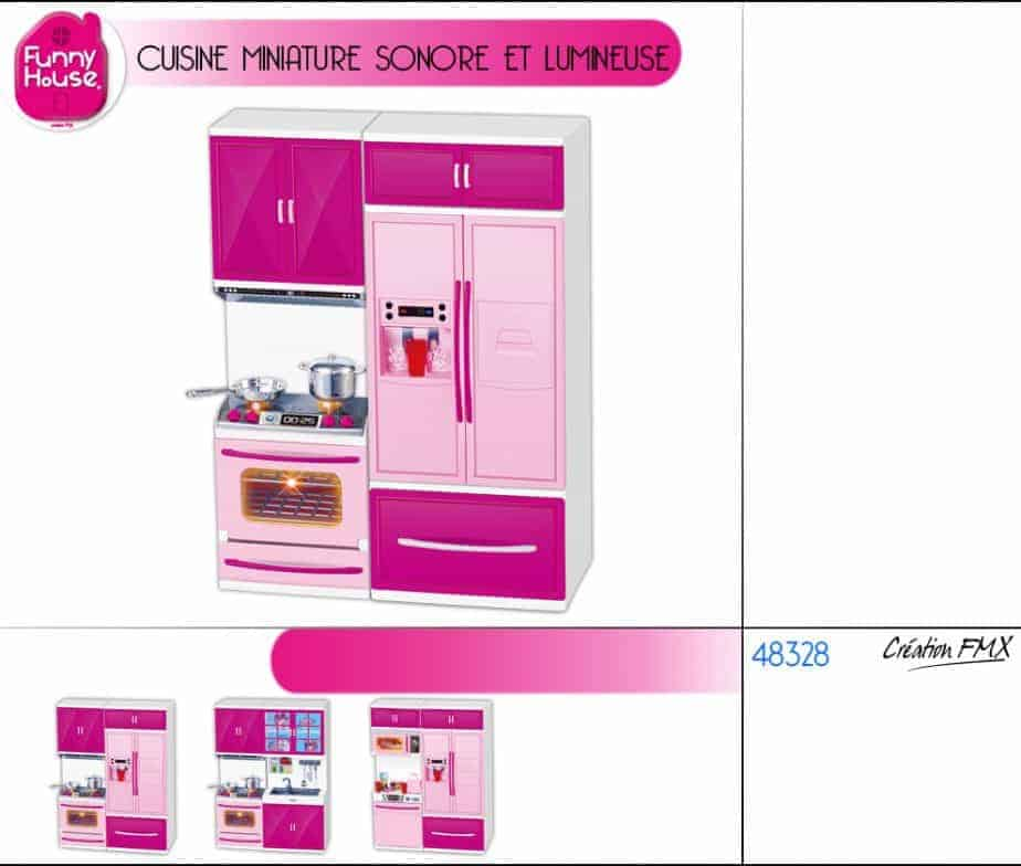 cuisine miniature sonore et lumineuse ced. Black Bedroom Furniture Sets. Home Design Ideas
