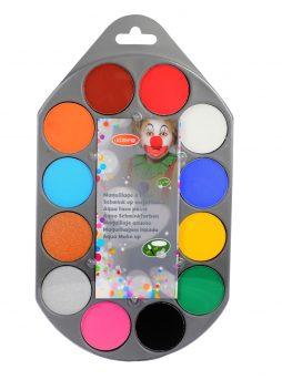 Kit de maquillage à l'eau 12 couleurs