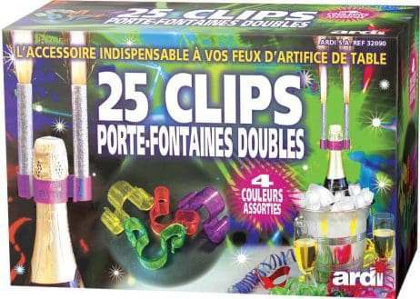 Clips porte fontaines doubles
