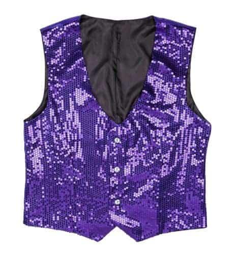 Gilet violet paillette soiree