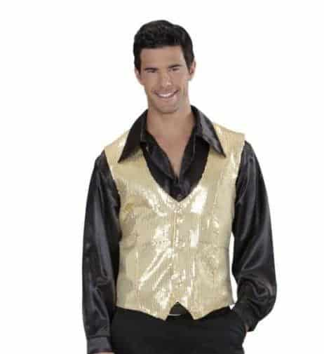 GILET A PAILLETTES DISCO (Couleur or)
