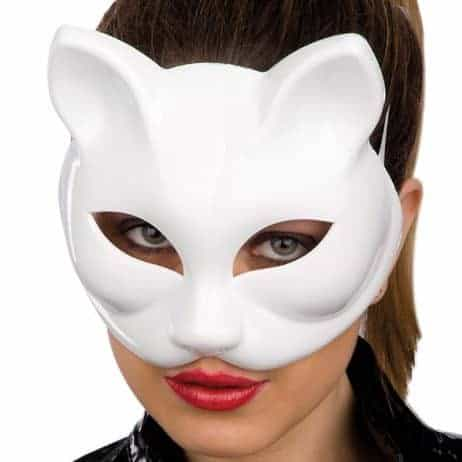 masque chat blanc