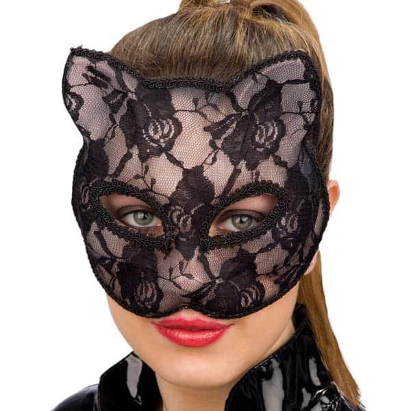 célèbre marque de designer mieux aimé la qualité d'abord MASQUE CHAT NOIR (Masque en dentelle)
