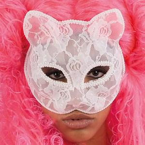 masque dentelle chat
