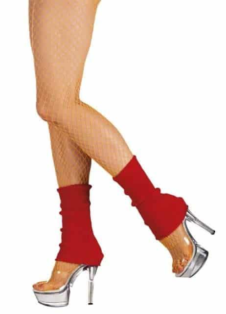 GUÊTRES JAMBIÈRES FLUO (Chaussettes de danse) Couleur Rouge