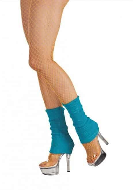 GUÊTRES JAMBIÈRES FLUO (Chaussettes de danse) Couleur Bleu