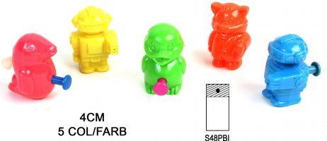 ANIMAUX ROBOTS RIGOLOS (Animaux Lance eau - 4 cm) Modèle en 5 coloris