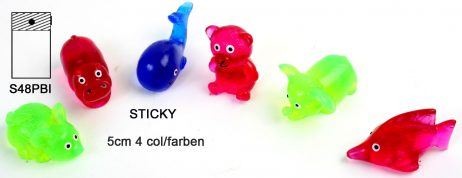 ANIMAUX GLUANTS (Figurines Sticky - 4 coloris)