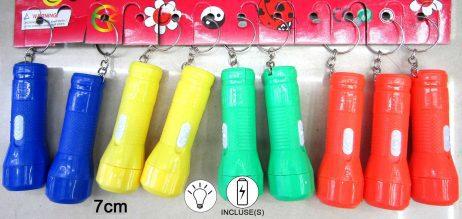 PORTE CLÉ LAMPE TORCHE (Assortiment - 4 coloris)