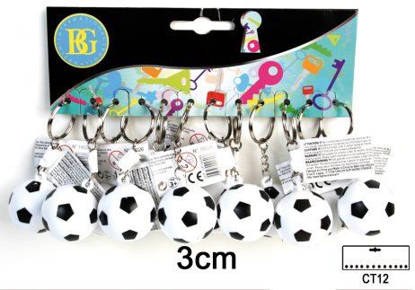 Porte clé ballon de foot 3cm