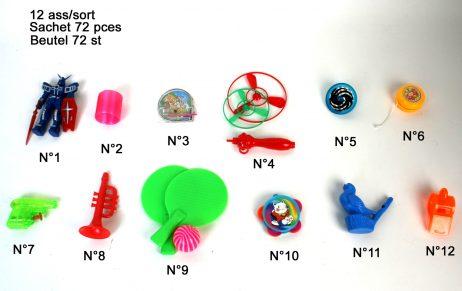 sac de 72 jouets
