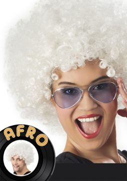 perruque blanche afro
