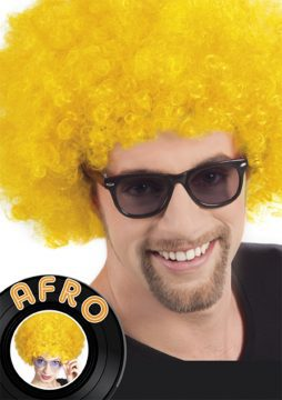 perruque jaune afro