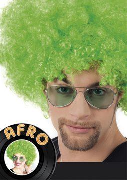 perruque verte afro