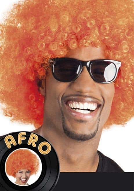 perruque orange afro