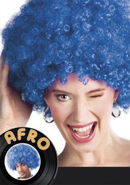 perruque afro couleur bleue