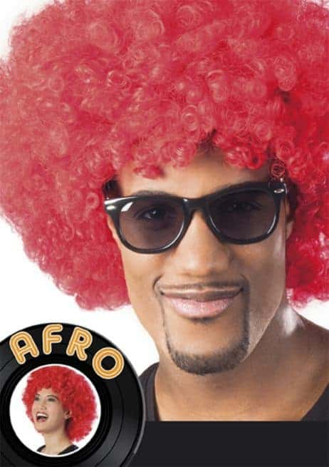 Coiffe Afro rouge