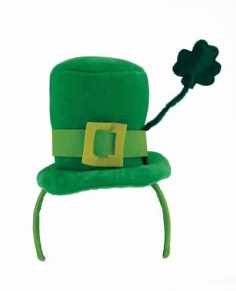 Serre tete chapeau St Patrick et trèfle