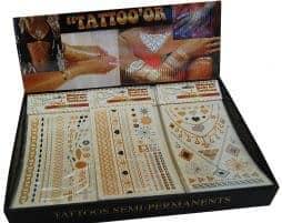 Tatouages or coffret 72 pièces