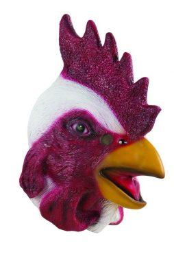 Masque en latex de coq pour adulte