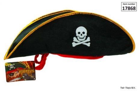 Chapeau de pirate feutrine et bandeau rouge