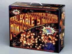 Feu d'artifice portable 5 minutes