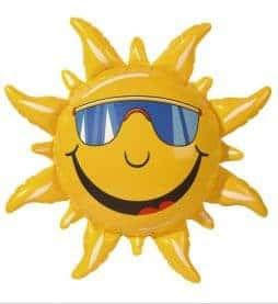 Grand soleil gonflable de 60 cm