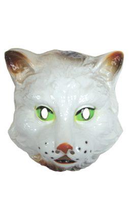 Masque de chat blanc en plastique