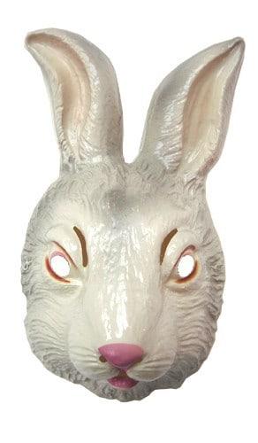 MASQUE DE LAPIN BLANC (Masque en plastique)
