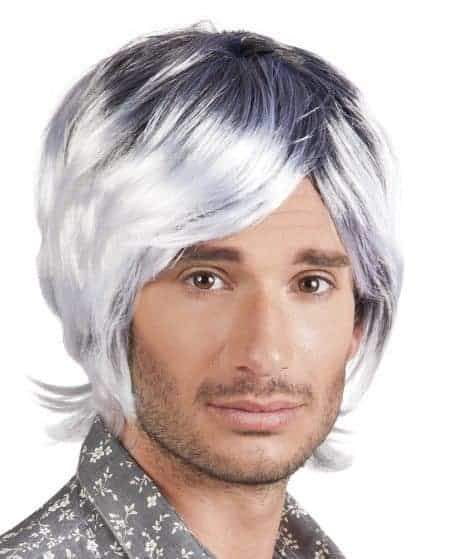 PERRUQUE FASHION MAN (Cheveux grisonnants)