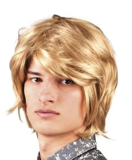 Perruque blonde pour homme