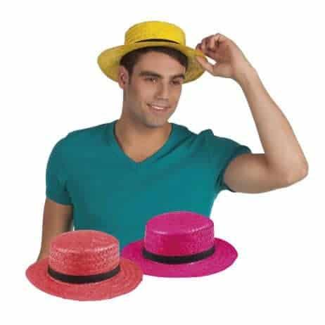 Chapeau canotier couleurs