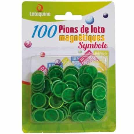 100 jetons magnetiques loto bingo