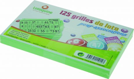 125 grilles de loto bingo