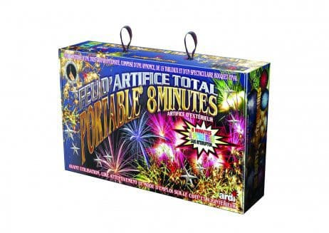 FEU D'ARTIFICE PORTABLE SPECTACLE 8 MINUTES