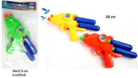 PISTOLET A EAU - RESERVOIR (Pistolet Double réservoir) Taille 28 cm - 3 coloris