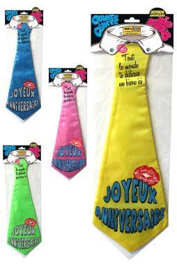 cravate geante anniversaire