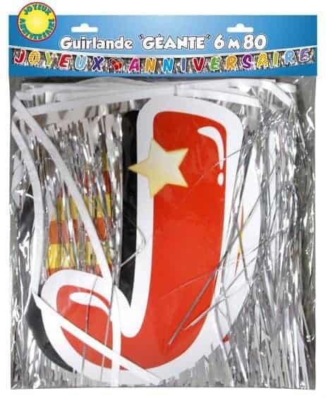Guirlande joyeux anniversaire 6m80