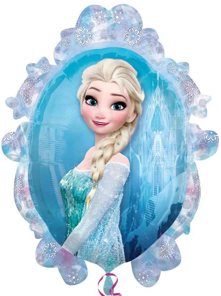 Ballon aluminium frozen anna et elsa recto verso la - Elsa la reine ...