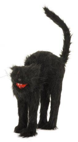 Chat noir sonore et lumineux