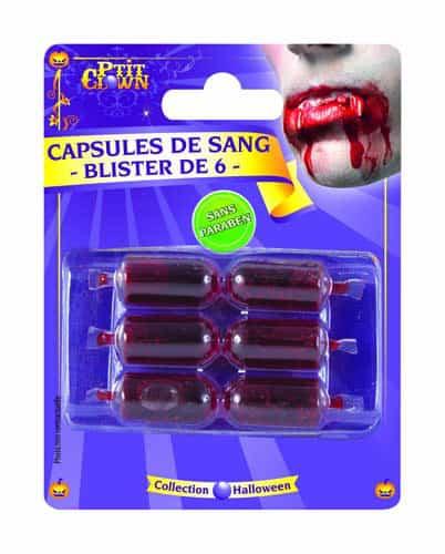 CAPSULE DE FAUX SANG